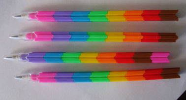 China Fancy Plastic Bullets Push Up Pencils  9 Colors Bullet Pencil For School supplier