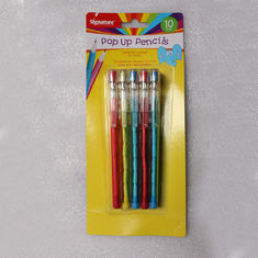 China Easter Plastic Multi Head Bullet Push Pencil Logo Printing With Cap supplier