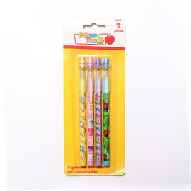 China 3 Color Bullet Push Pencil For Kids Non-Sharpening Pencil / 9 Leads Pencil supplier