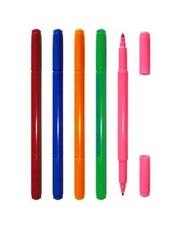 China Office Permanent Ink Fluorescent Marker Pen Non - Toxic ABS Plastic Material supplier
