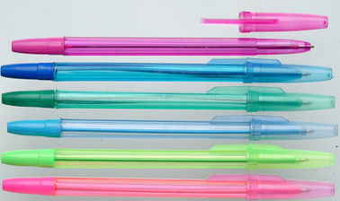 China Environmental protection plastic ballpoint pen for school factory