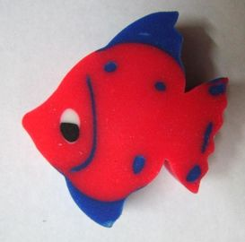 China Cute Fish Shape Cartoon Pencil Rubber Eraser Flat Rubber Eraser Eco Friendly factory